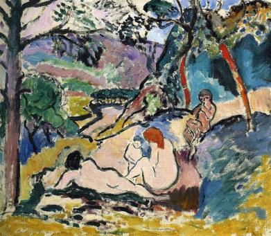 Henri Matisse, Pastoral. 1906. oil on canvas. 46 x 55 cm. Musée d'Art Moderne de la Ville de Paris.