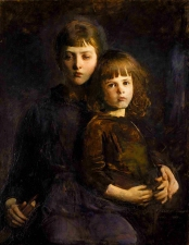 Abbott Handerson Thayer, Brother and Sister (Mary and Gerald Thayer), 1889, oil on canvas, Smithsonian American Art Museum, Gift of John Gellatly, 1929.6.114