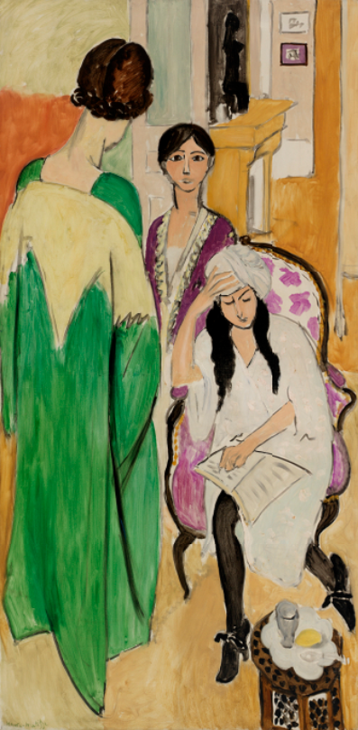 Henri Matisse. Three Sisters with an African Sculpture (Les Trois soeurs à la sculpture africaine), between May and mid-July 1917.